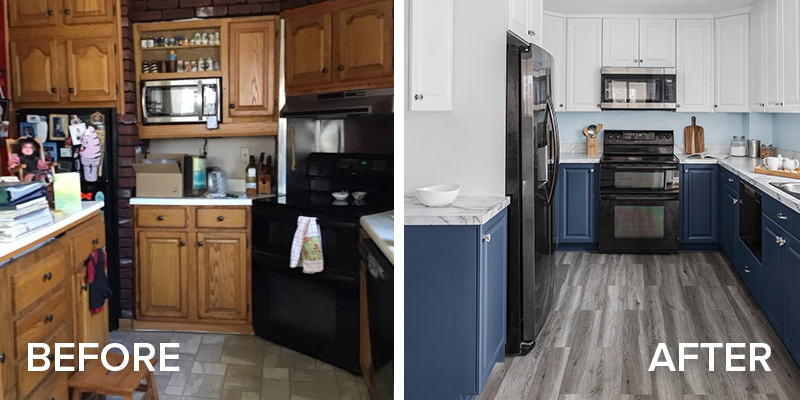 March Remodel of the Month Before and After