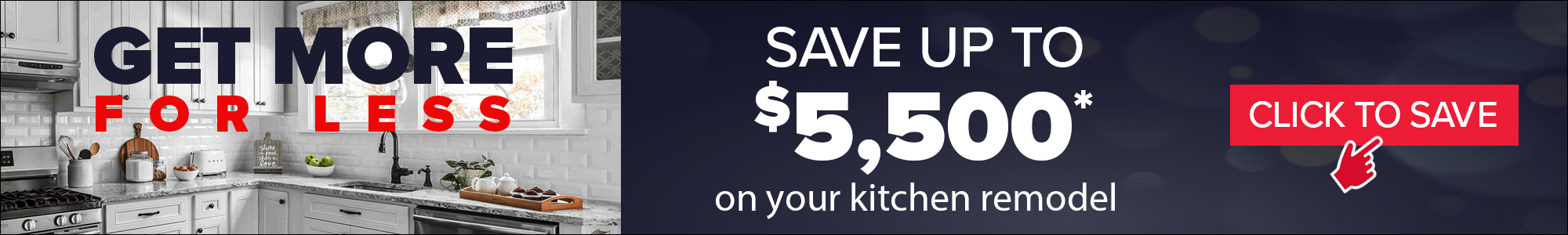 Save up to $5,500 on your kitchen remodel