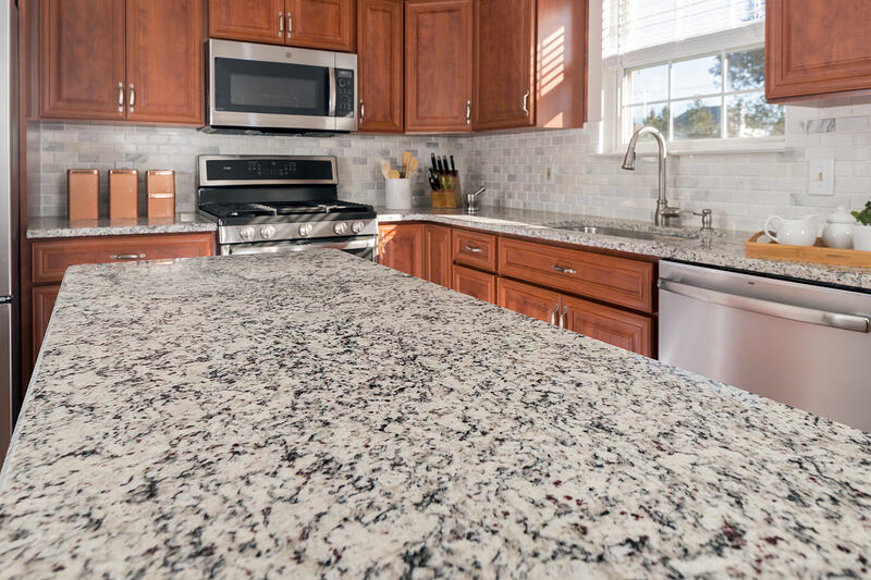 cherry cabinets and granite countertops