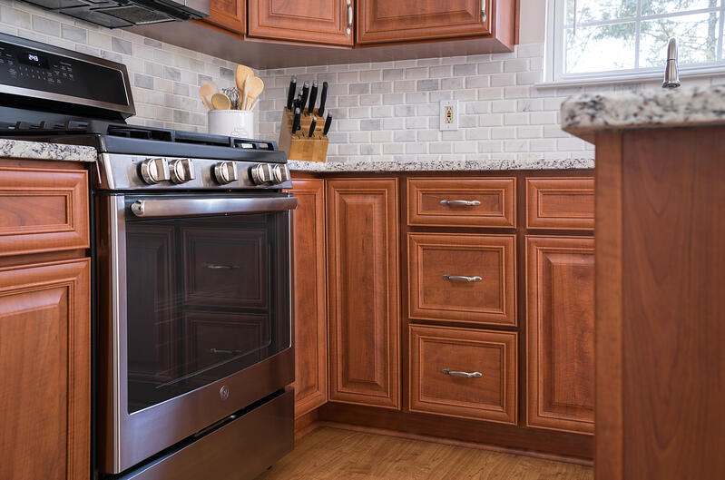 cherry cabinet refacing