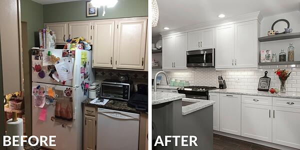 White Kitchen Remodel Before and After
