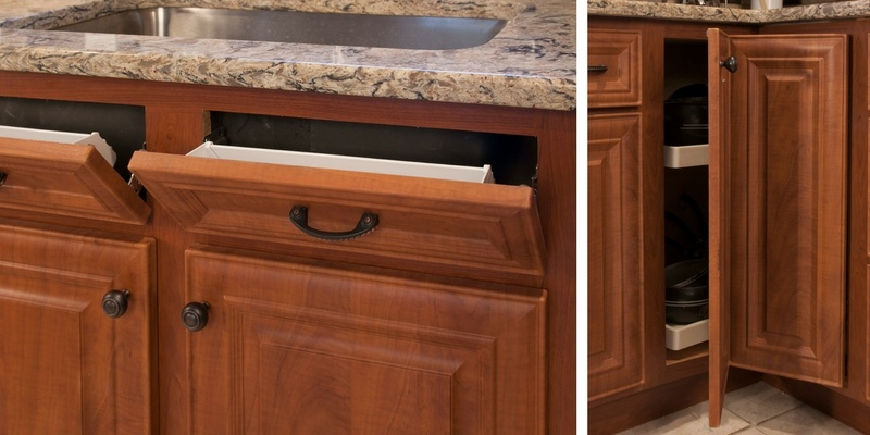 Kitchen Storage Solutions with Cherry Cabinets