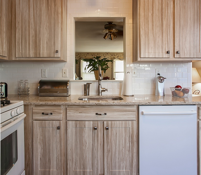 Remodeled Kitchen with Barnwood Cabinets