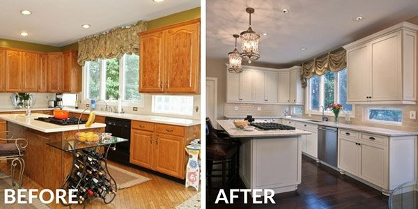 White Kitchen Before and After
