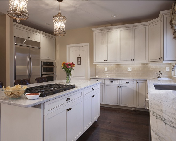 White Kitchen with Warm Accents