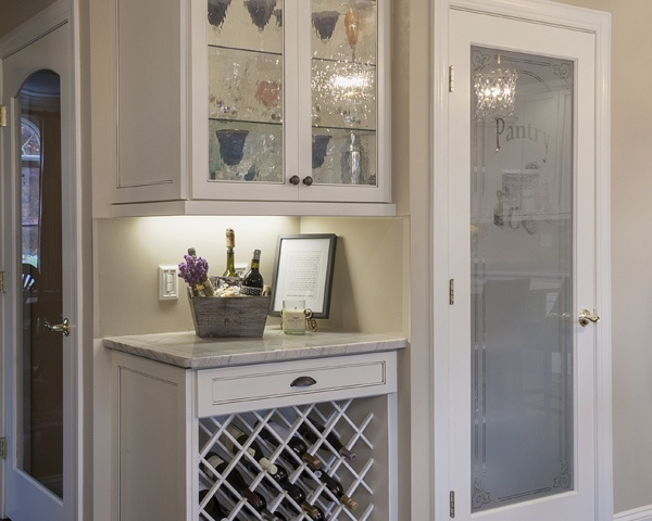 Glass-front Display Cabinet and Kitchen Wine Rack