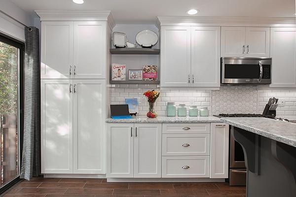 Kitchen Remodel with Floating Shelves