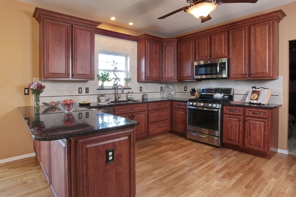 Kitchen Remodel with Cherry Cabinets