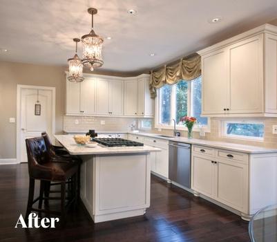 White Kitchen Design After Photo