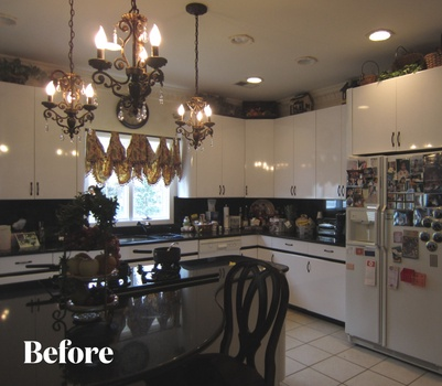 Before Cherry Kitchen Remodel