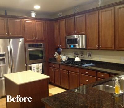 White Kitchen Remodel Before Photo