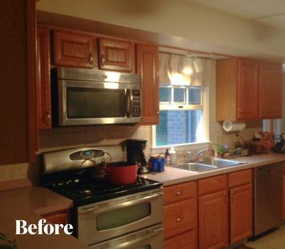Cherry Kitchen Remodel Before Photo