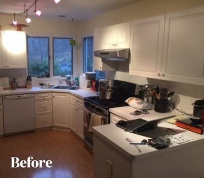 Modern Gray Kitchen Remodel Before Photo