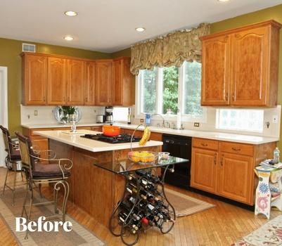 White Kitchen Design Before Photo