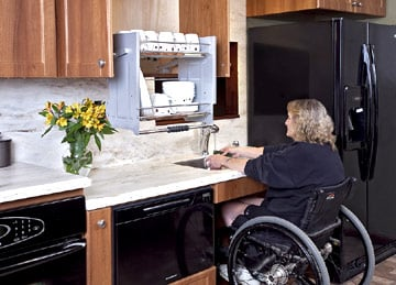 mobility challenged kitchen