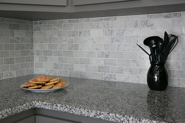 Carrara Marble Tile Kitchen Backsplash