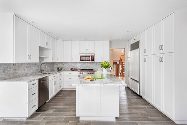 large beautiful white kitchen refacing