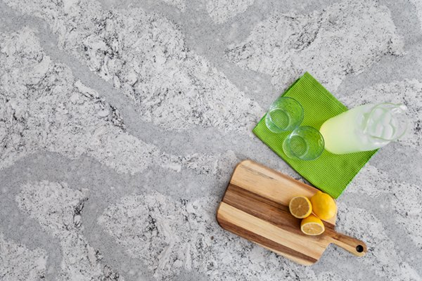 Cambria Summerhill marbled quartz countertop