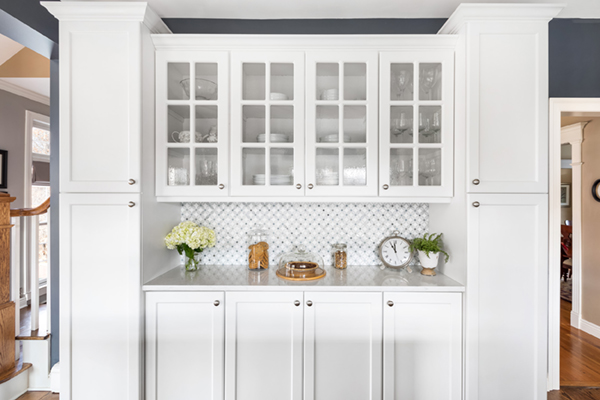 Patterned tiles create a stunning focal point
