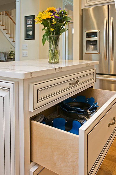 Pot drawers for added function