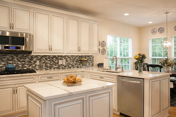 Transitional Kitchen with Hues of White
