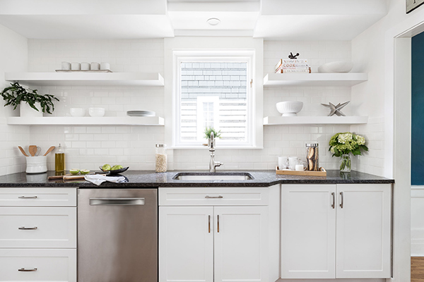 Urban style kitchen remodel white cabinets | Kitchen Magic