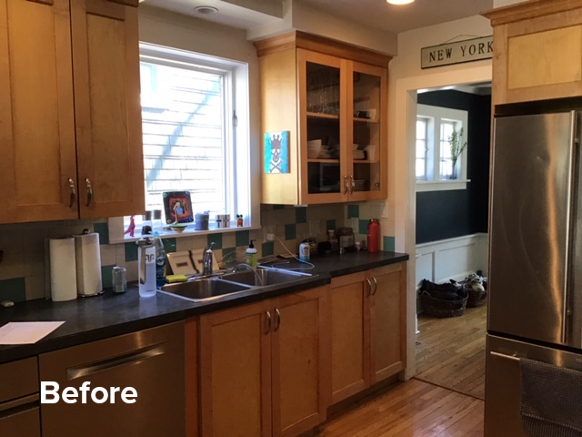 before pic urban inspired kitchen remodel | Kitchen Magic