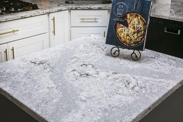 white and gray kitchen design