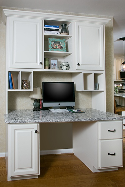 Kitchen desk for a conveient homework station