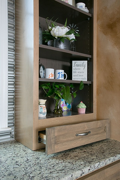 Replace Some Cabinets with Custom Shelving