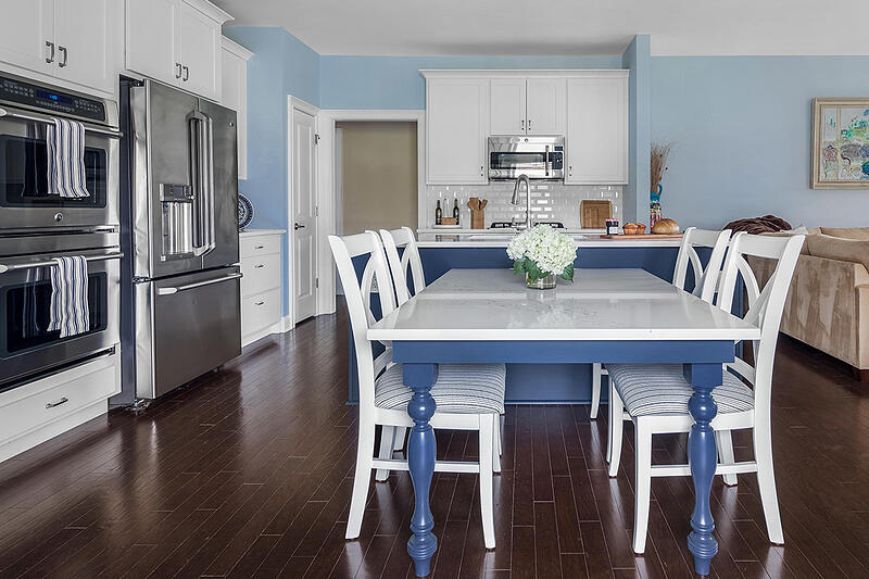 Kitchen Magic Blue and White Featured Remodel