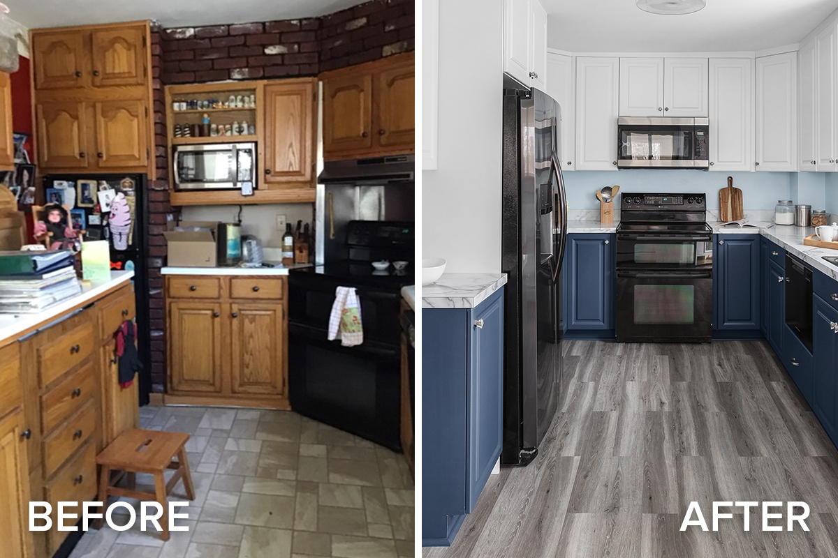 March Remodel Before and After