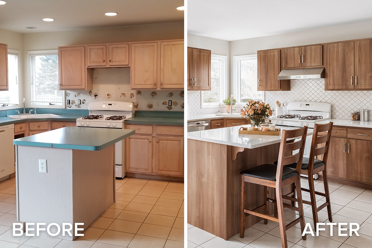Jan Remodel of the Month Before and After