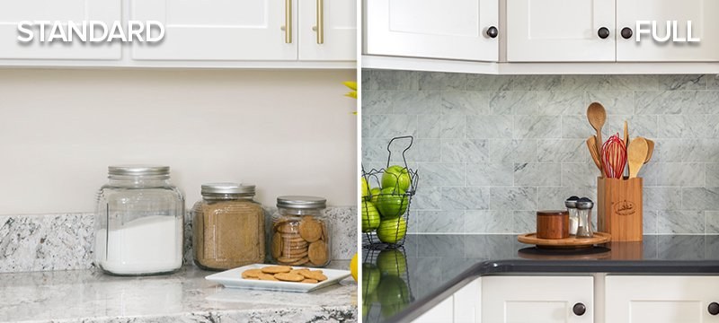 Standard Vs Full Kitchen Backsplash Which Is Right For You