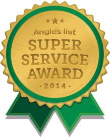 Angies's List Super Service Award 2014