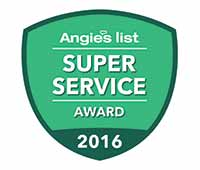 Angies's List Super Service Award 2016