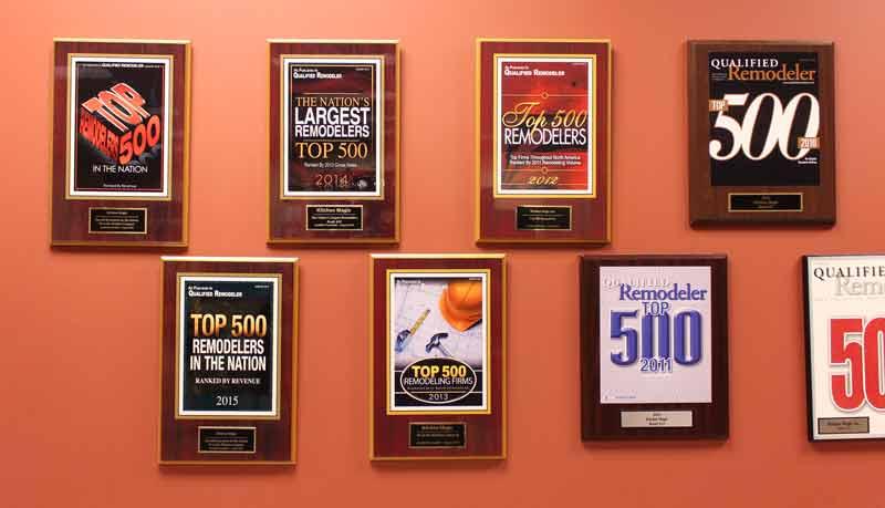 Kitchen Magic Award Wall