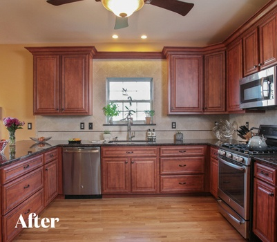 Traditional Cherry Kitchen Transformation After