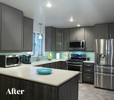 Contemporary Gray Kitchen Renovation After
