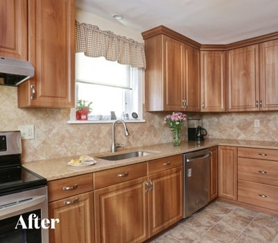 Transitional Wood Kitchen Remodel After