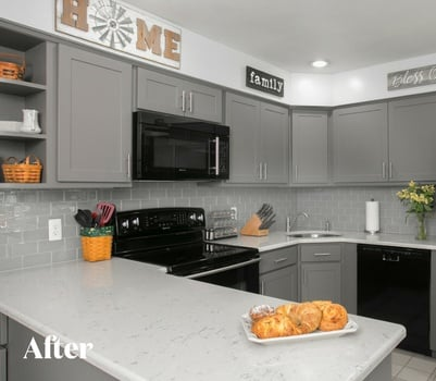 Gray Kitchen Remodel After Photo