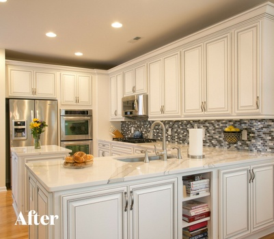 White Kitchen Remodel After Photo