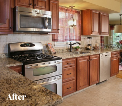 Cherry Contemporary Kitchen Remodel After Photo