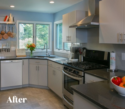 Modern Gray Kitchen Remodel After Photo