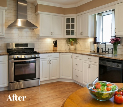 White Kitchen After Photo