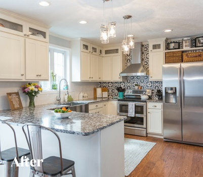 White Contemporary Kitchen Remodel After Photo
