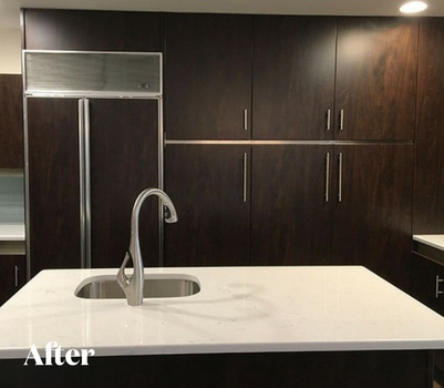 Contemporary Dark Wood Kitchen Remodel After