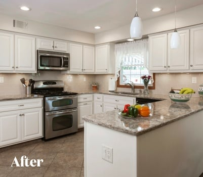 Traditional White Kitchen Transformation After