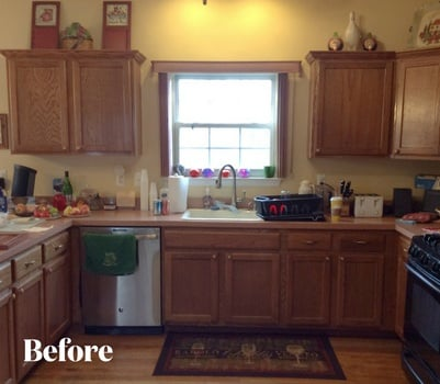 Traditional Cherry Kitchen Transformation Before