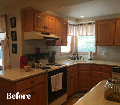 Transitional White Kitchen Renovation Before Photo